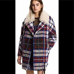 Hilfiger collection wool & shearling coat